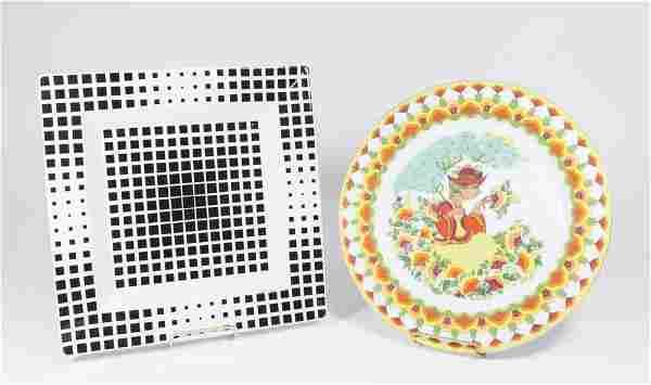 Victor Vasarely & Bjorn Wiinblad Porcelain Pieces