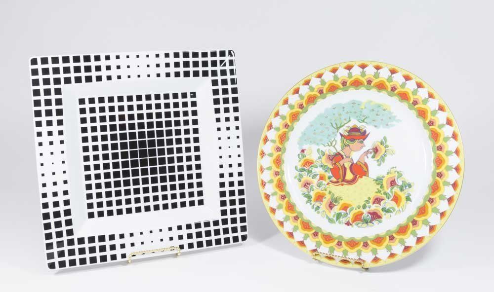 Victor Vasarely & Bjorn Wiinblad Porcelain Pieces