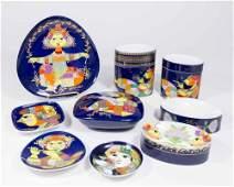 Bjorn Wiinblad 1001 Nights 12 Pc Porcelain Lot