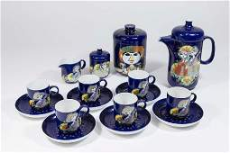 "Bjorn Wiinblad, ""1001 Nights"" 19 Pc Demitasse Set"
