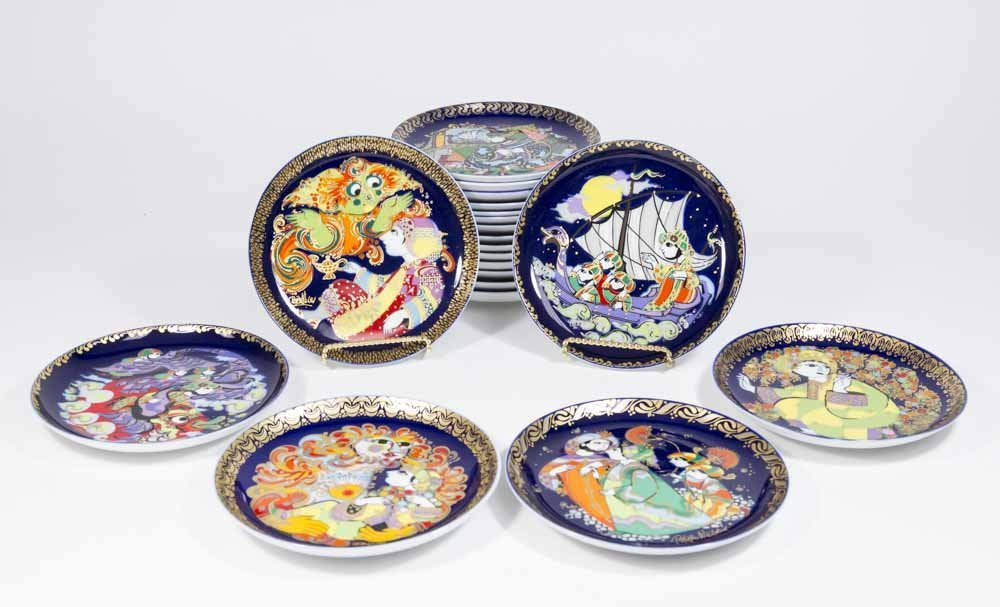 "20-6 1/2"" Bjorn Wiinblad Collector Plates"