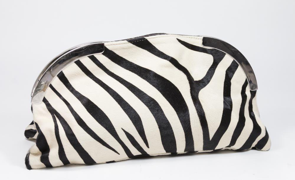 Marni Pony Skin Clutch Bag in Zebra Pattern
