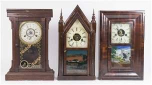 3 Shelf Clocks