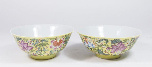 :Pair Chinese Porcelain Rice Bowls