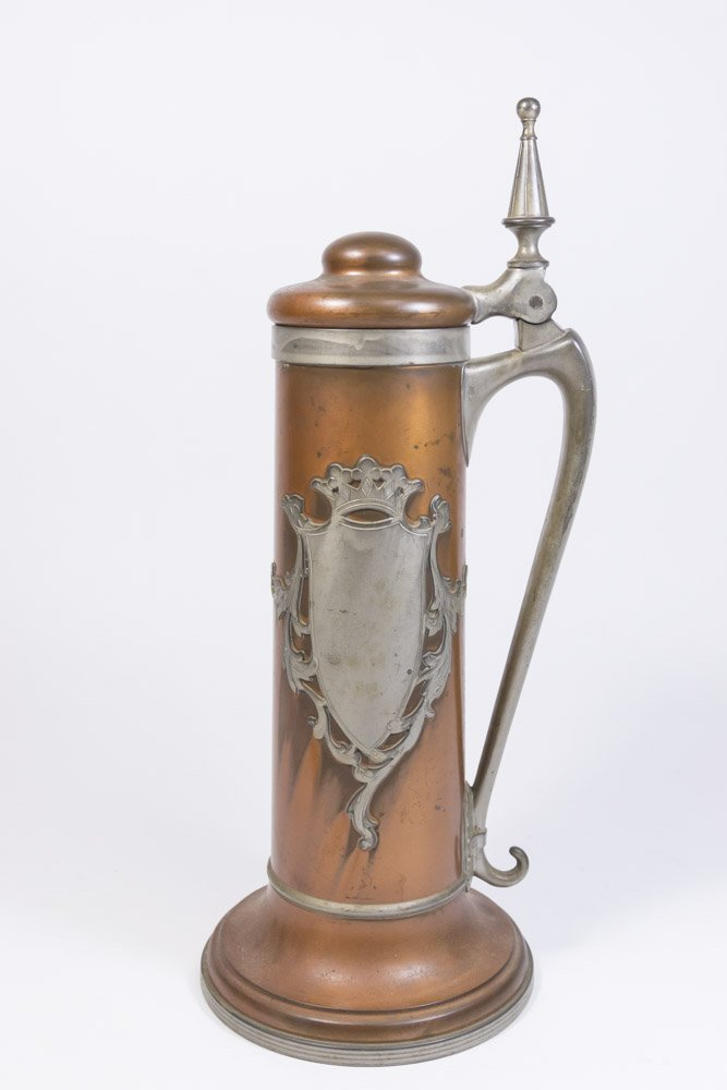 Pairpoint Copper & Pewter Mounted Tankard