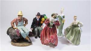 Group Lot of 5 Royal Doulton Figures