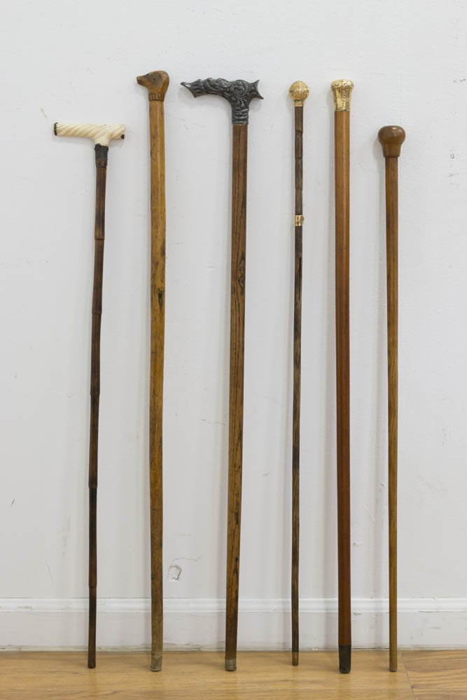 Collection of 6 Walking Canes