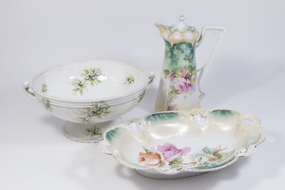 3 R.S. Prussia Porcelain Pieces