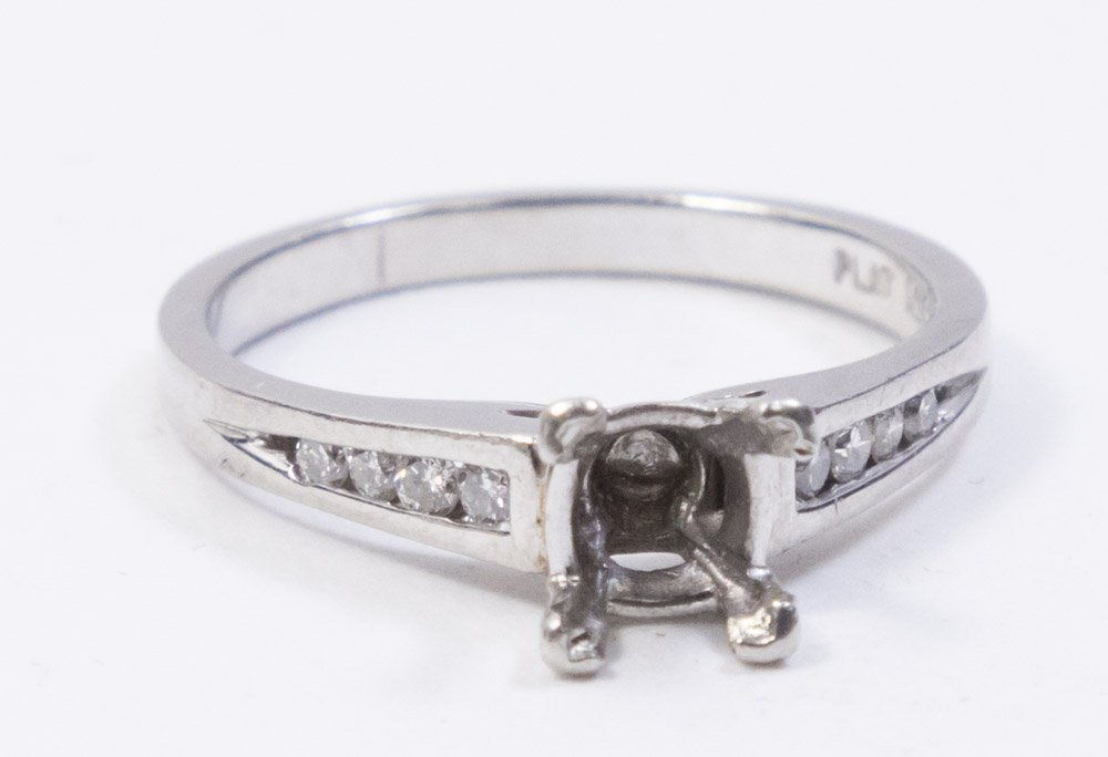 Platinum & Diamond Engagement Ring Setting