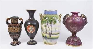 4 Porcelain Vases