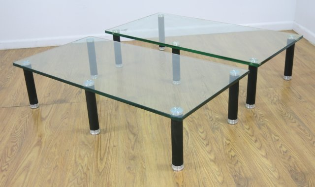 :2 Leon Rosen for Pace Glass Coffee Tables