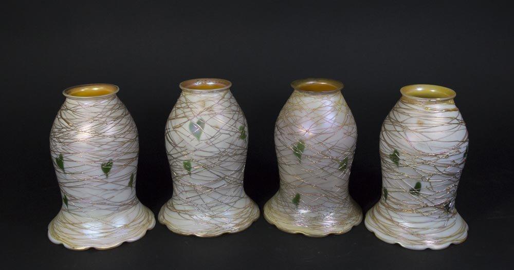 Set of 4 Quezal Shades