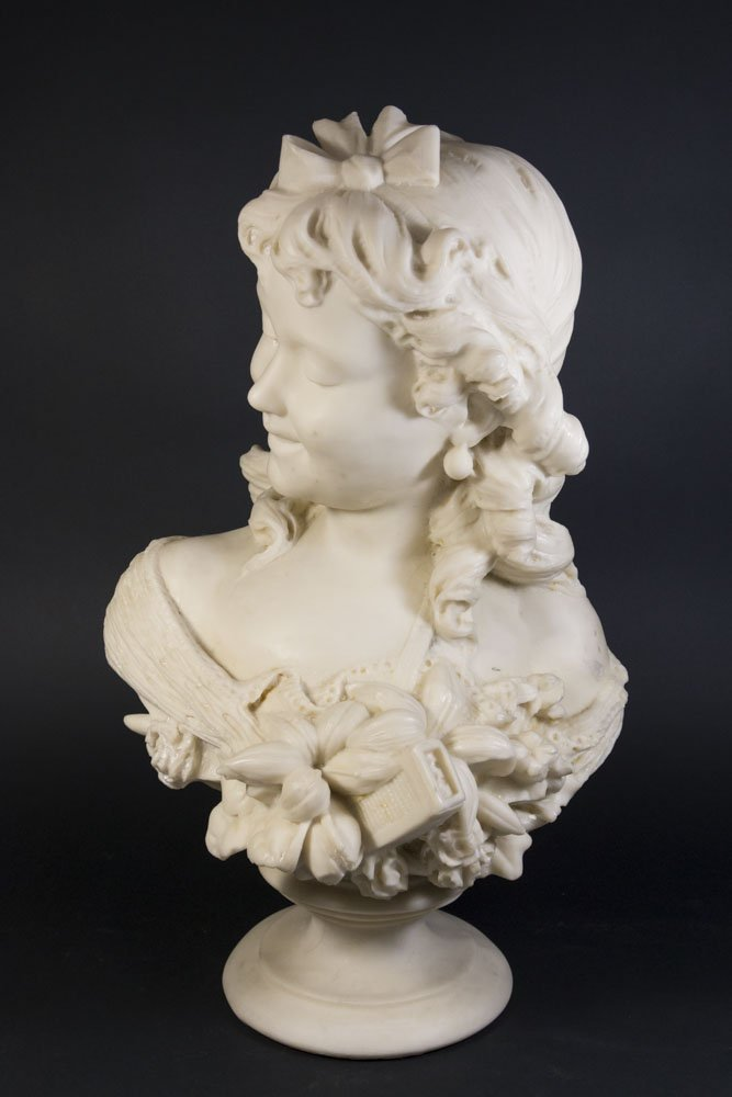 Composition Bust of Young Maiden