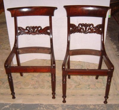104: PAIR 19TH C. REGENCY STYLE SIDE CHAIRS