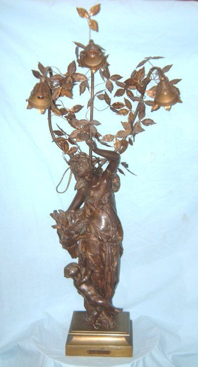 19TH C. CARRIER BELLEUSE BRONZE GROUPING
