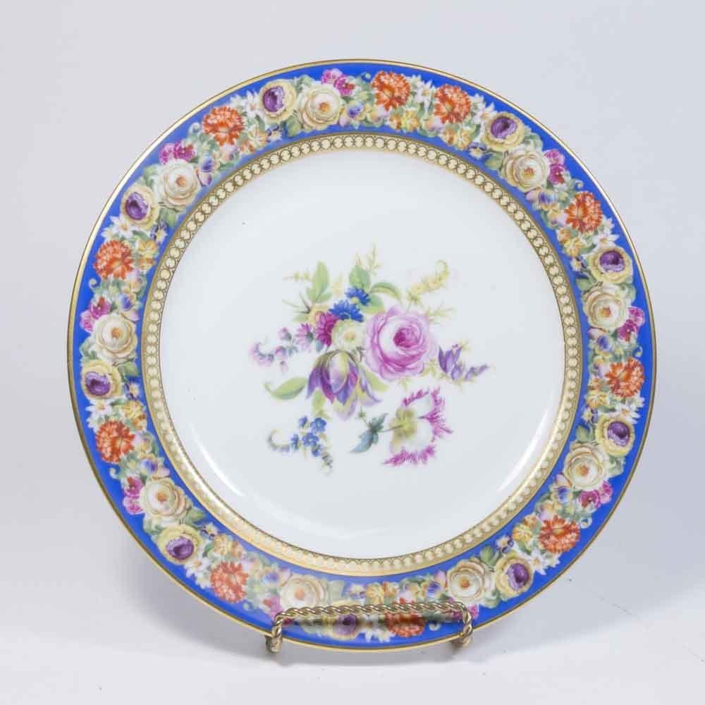 12 Ovington's Bavaria Handpainted Plates
