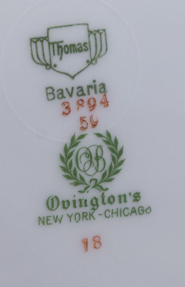 12 Ovington's Bavaria Handpainted Plates - 4