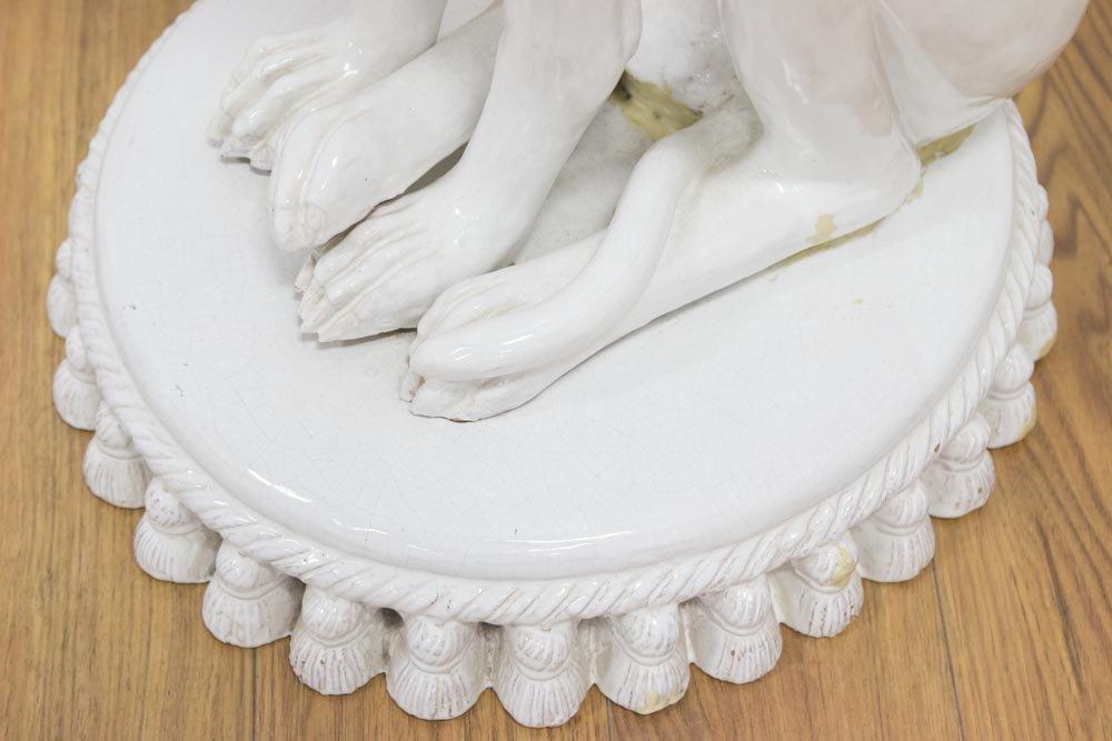 Ceramic Greyhound, Signed Thomas - 4