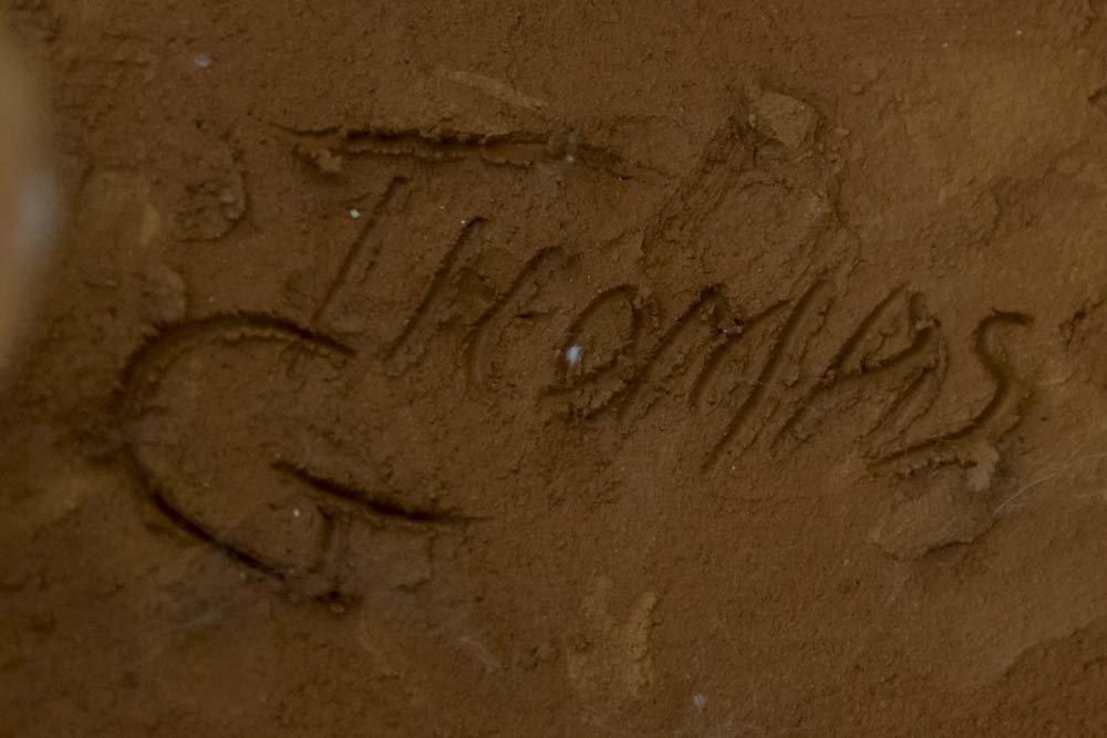 Ceramic Greyhound, Signed Thomas - 7