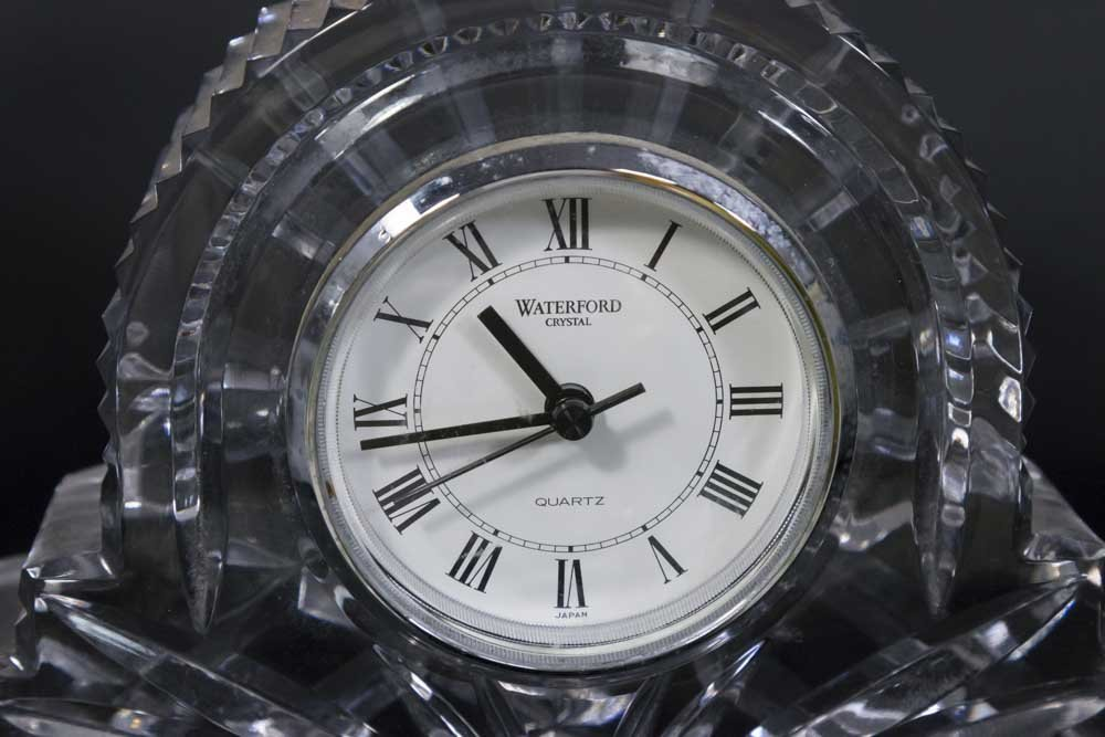 15 Pieces of Porcelain & Waterford Crystal Clock - 3