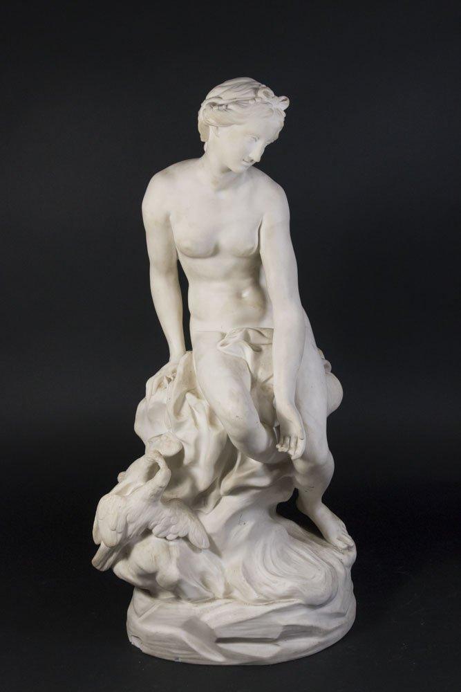 Parian Figure of Allegorical Semi Nude Woman