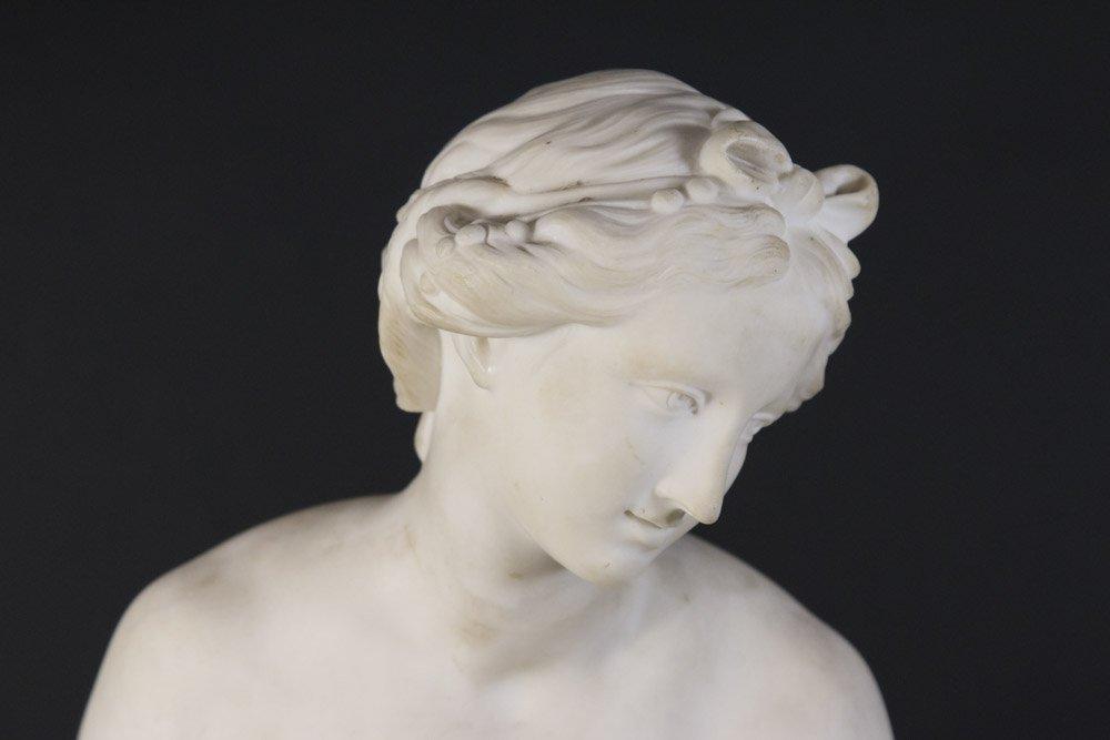 Parian Figure of Allegorical Semi Nude Woman - 2