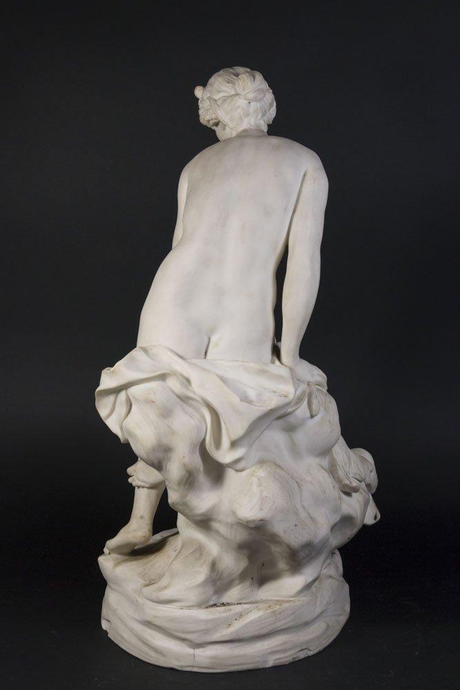 Parian Figure of Allegorical Semi Nude Woman - 6