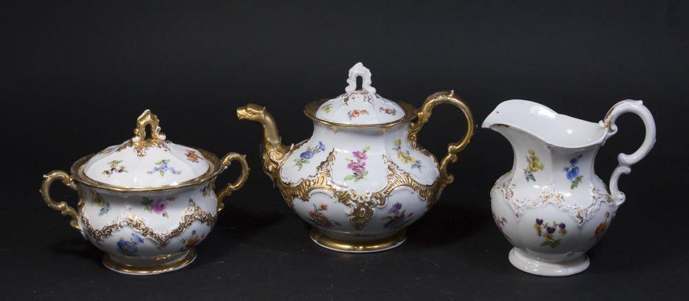 3 Piece Meissen Tea Set