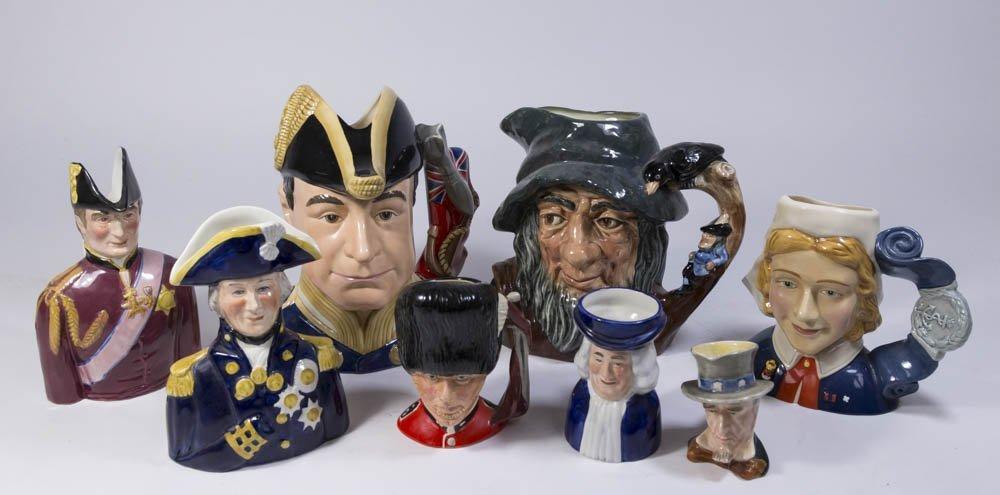 Group Lot 8 Porcelain Figures
