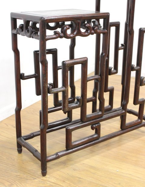 Chinese Carved Mahogany 2-Tier Etagere - 3