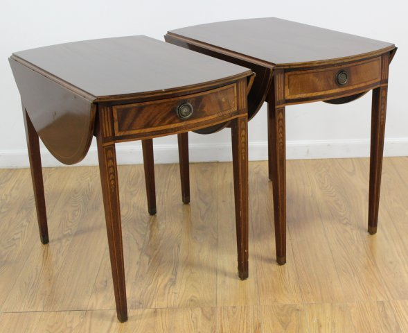 Pair George III Style Mahogany Pembroke Tables