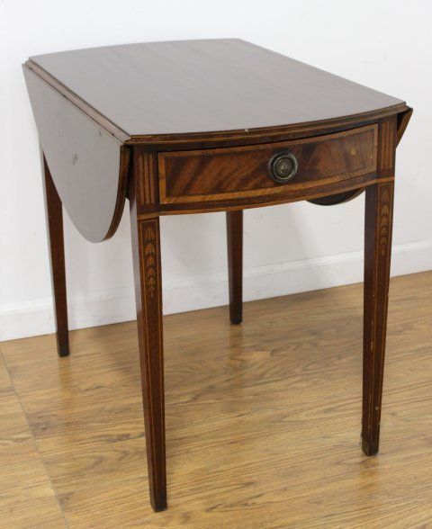 Pair George III Style Mahogany Pembroke Tables - 4