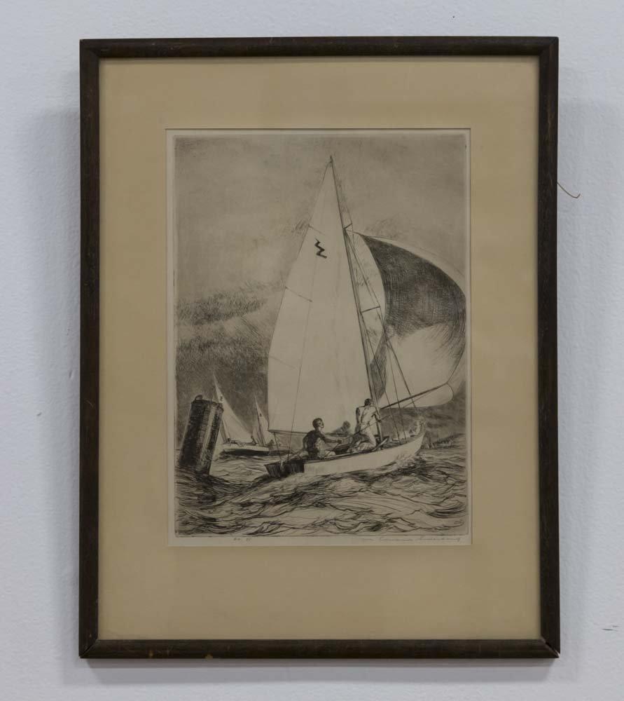 Yngve E. Soderberg, Sailboat Race