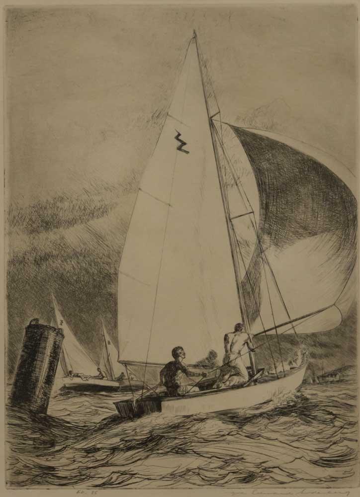 Yngve E. Soderberg, Sailboat Race - 2