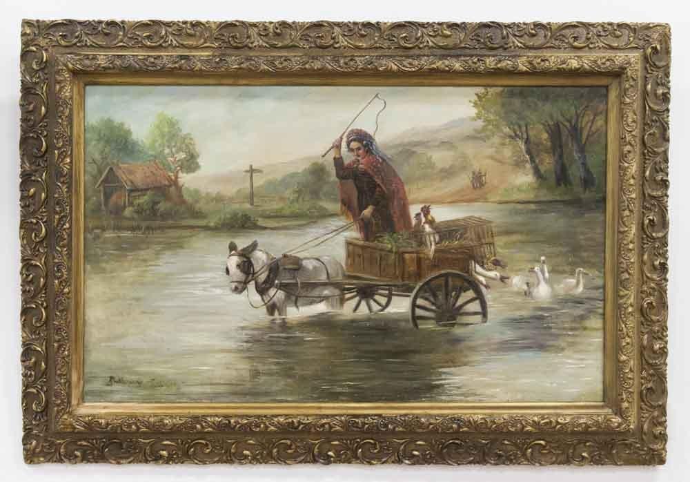 Eastern European Oil on Canvas