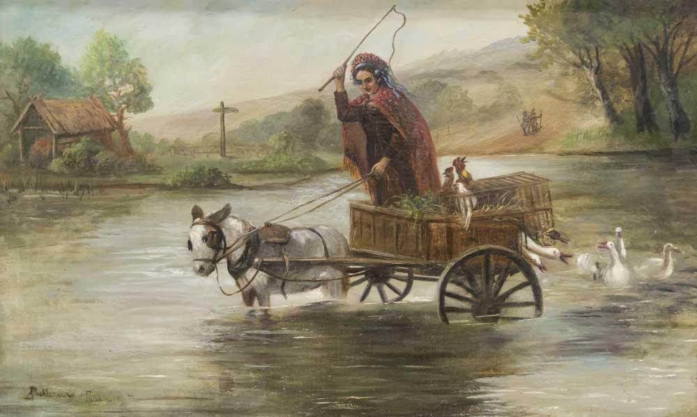 Eastern European Oil on Canvas - 2