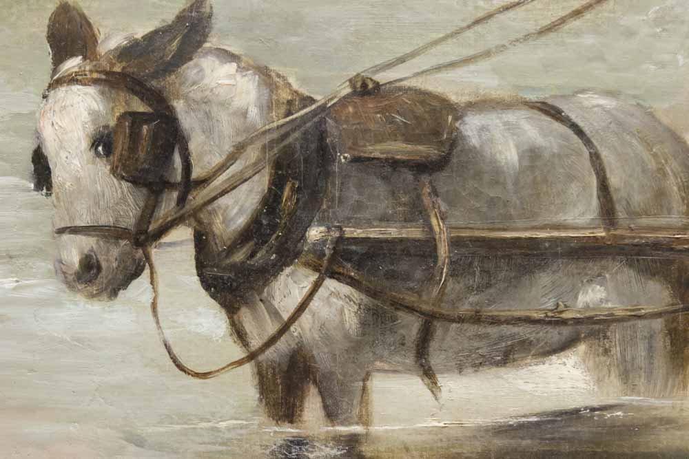 Eastern European Oil on Canvas - 4