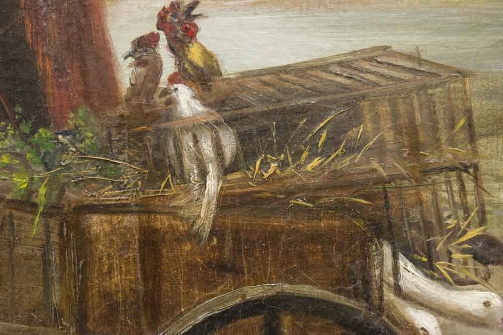 Eastern European Oil on Canvas - 5