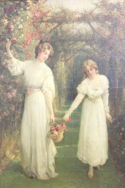 Talbot Hughes, Young Women Picking Flowers