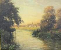 "Louis Aston Knight, ""Twilight Along the Riverbank"""