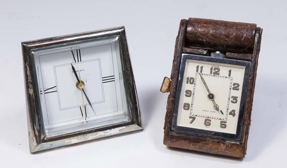 2 Travel Clocks, Tiffany & Co. & LeCoultre