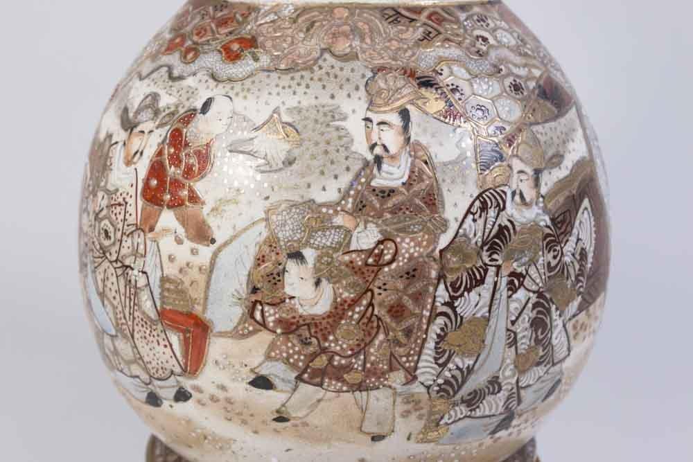Satsuma Vase Mounted as Lamp - 3