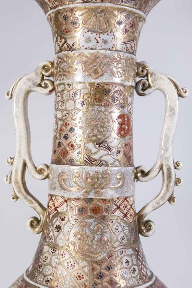 Satsuma Vase Mounted as Lamp - 4