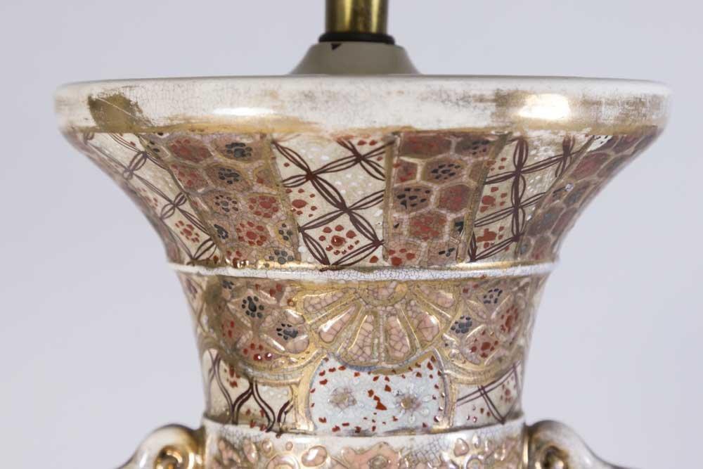 Satsuma Vase Mounted as Lamp - 5