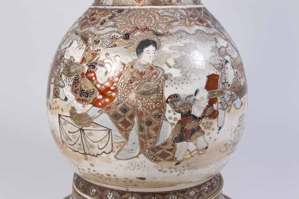 Satsuma Vase Mounted as Lamp - 7