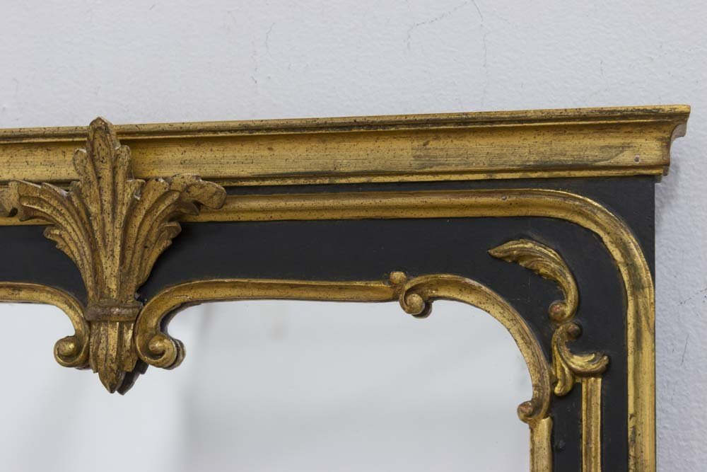 Italian Giltwood Marble Top Console & Mirror - 2