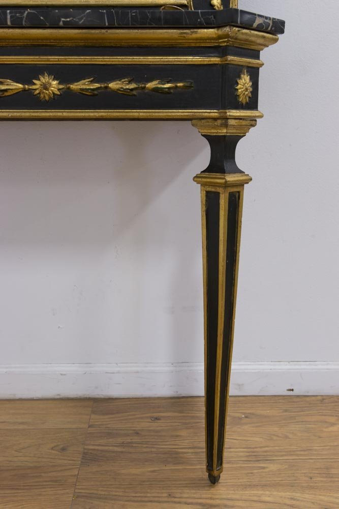 Italian Giltwood Marble Top Console & Mirror - 5