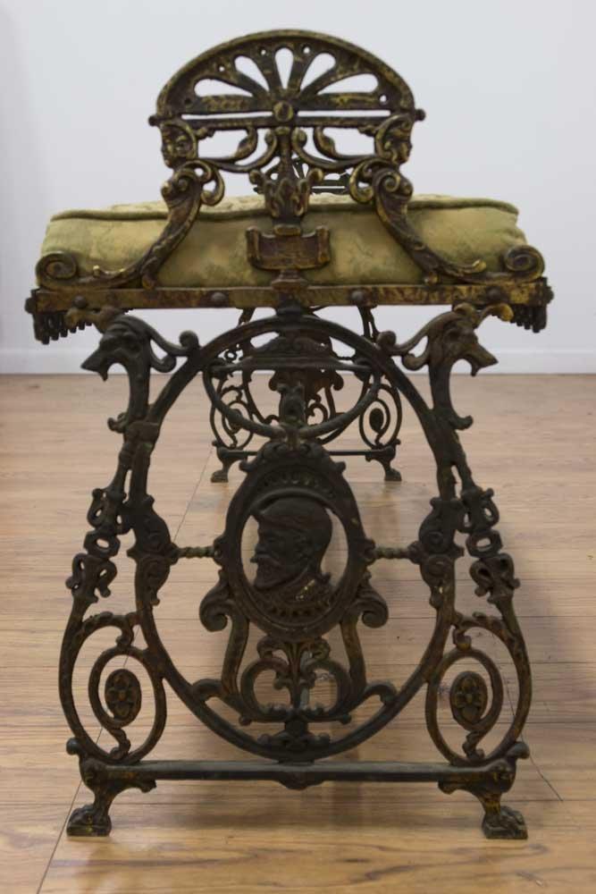 Bronze Figural Oscar Bach Style Bench - 2