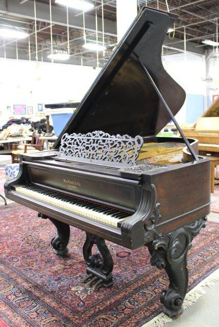 Scroll Leg Rosewood William Knabe Grand Piano