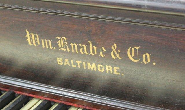 Scroll Leg Rosewood William Knabe Grand Piano - 2